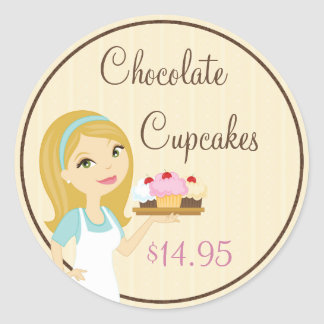 Blonde Baker Cupcake D12 Product Price Stickers