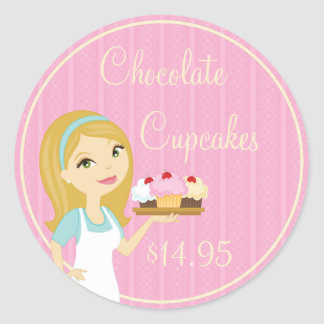 Blonde Baker Cupcake D12 Product Price Stickers 5
