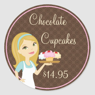 Blonde Baker Cupcake D12 Product Price Stickers 7