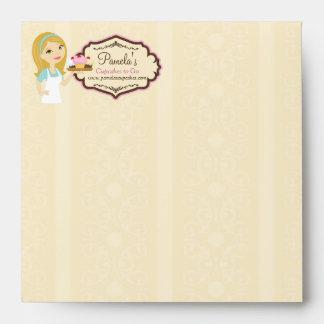 Blonde Baker Cupcake D12 Square Envelope 1