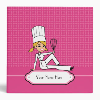 Blonde Baker Girl Recipe Binder