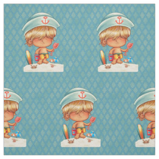 Blonde Beach Bum Fabric