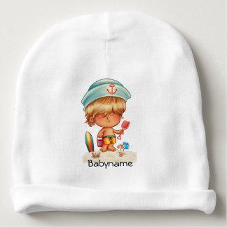 Blonde Beach Bum Personalized Baby Beanie