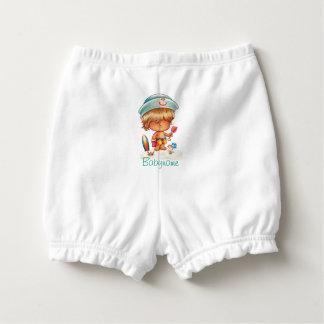 Blonde Beach Bum Personalized Diaper Cover