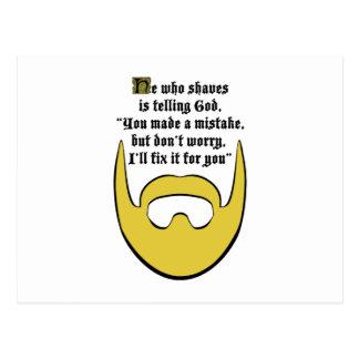 blonde beard postcard