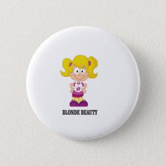 blonde beauty girl pinback button