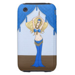 Blonde Bellydancer in Blue and Gold Costume iPhone 3 Tough Cases