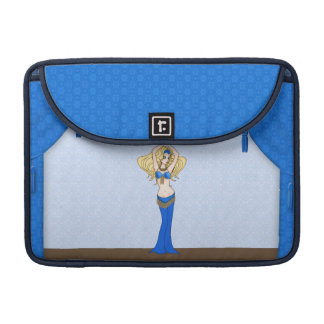 Blonde Bellydancer in Blue and Gold Costume Sleeve For MacBooks