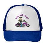 Blonde Biker Mesh Hats
