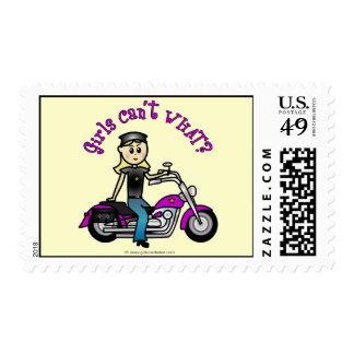 Blonde Biker Postage