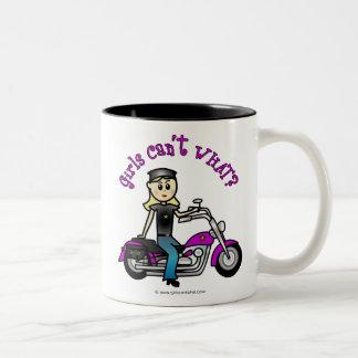 Blonde Biker Two-Tone Coffee Mug