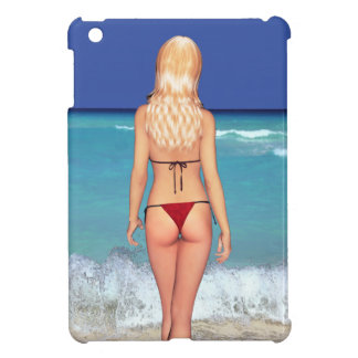 Blonde Bikini Beach Babe 2 iPad Case