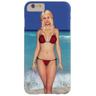 Blonde Bikini Beach Babe Barely There iPhone 6 Plus Case