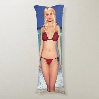 Blonde Bikini Beach Babe Body Pillow