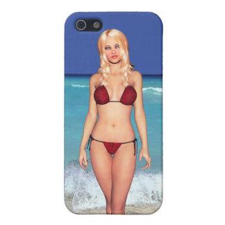 Blonde Bikini Beach Babe Cover For iPhone SE/5/5s