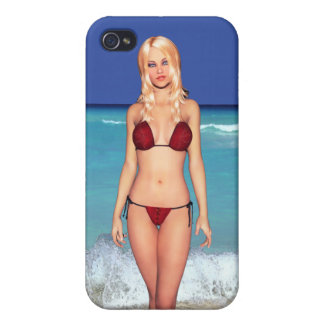 Blonde Bikini Beach Babe iPhone 4/4S Case