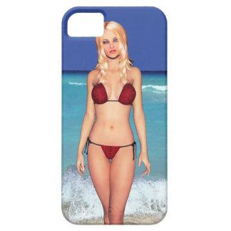 Blonde Bikini Beach Babe iPhone SE/5/5s Case