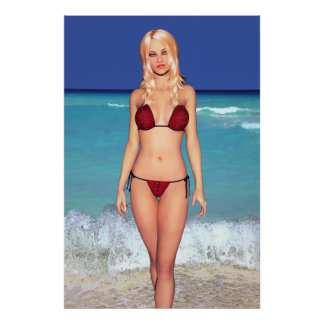 Are even blonde bikini posters the 11th
