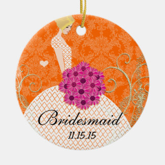 Blonde Birdesmaid  Gifts You Choose Colors Christmas Tree Ornaments