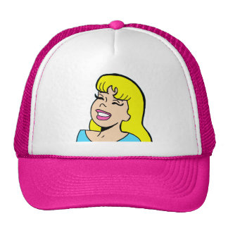 Blonde Bombshell Comic Strip Trucker Hat