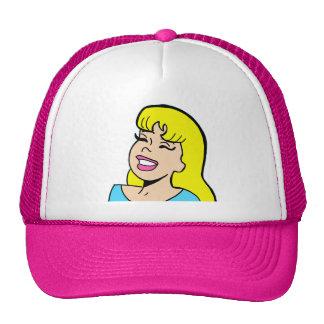 Blonde Bombshell Comic Strip Trucker Hat