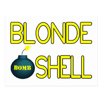 Blonde Bombshell Hottie Postcard