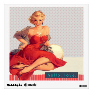 Blonde Bombshell Wall Decal