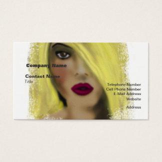 Blonde Bombshell Woman Borrow A Kiss Business Card