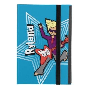 Blonde boy kid rockstar named blue id iPad mini 4 case