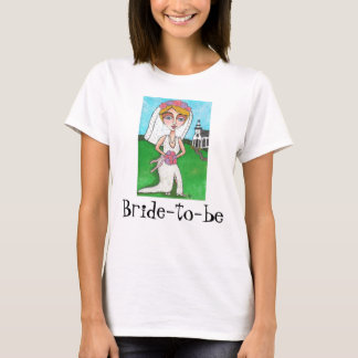 Blonde Bride & Bling - Bride-to-be t-shirt