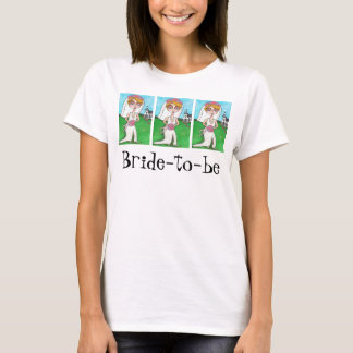 Blonde Bride & Bling - Bride-to-be t-shirt #2