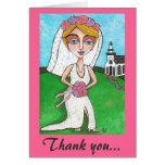 Blonde Bride & Bling - Thank you notecard Card