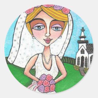 Blonde Bride & Bling - wedding stickers