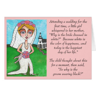 Blonde Bride - Wacky Wedding Joke card