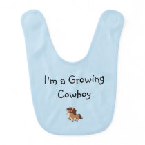 Blonde & Broke - Baby Bib - Growing Cowboy