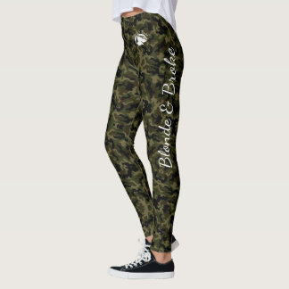 Blonde & Broke - Green Camouflage Leggings