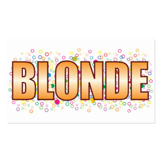 Blonde Bubble Tag Double-Sided Standard Business Cards (Pack Of 100)