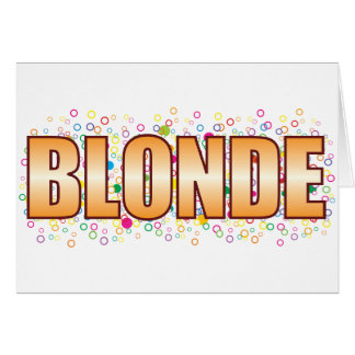 Blonde Bubble Tag Greeting Card