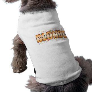 Blonde Bubble Tag Dog T-shirt