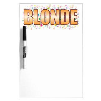 Blonde Bubble Tag Dry-Erase Board