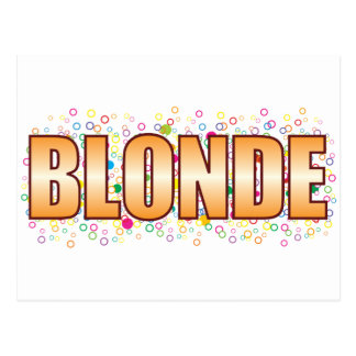 Blonde Bubble Tag Postcard