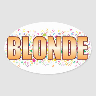 Blonde Bubble Tag Oval Sticker
