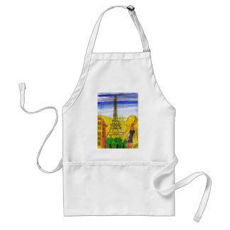 Blonde by the Eiffel Adult Apron