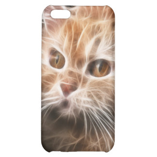 Blonde Cat Fractal iPhone4 iPhone 5C Covers