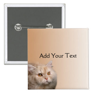 Blonde Cat with Topaz Eyes on Cinnamon Button