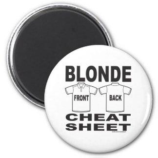 BLONDE CHEAT SHEET 2 INCH ROUND MAGNET