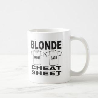 BLONDE CHEAT SHEET COFFEE MUG