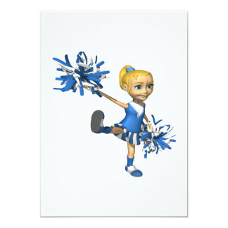 Blonde Cheerleader 2 Card