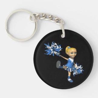 Blonde Cheerleader 2 Key Chains
