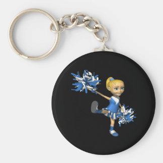 Blonde Cheerleader 2 Key Chain